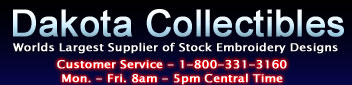 Dakota Collectibles, Worlds Largest Supplier of Stock Embroidery Designs