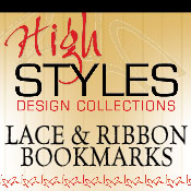 Lace & Ribbon Applique Bookmarks