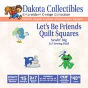 Lets Be Friends Quilt Squares