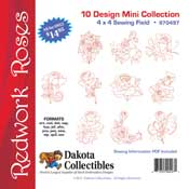 Redwork Roses Mini Collection