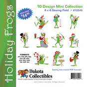 Holiday Frogs Mini Collection (10 4x4)