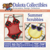 Summer Scrubbies (10 5x7) Applique