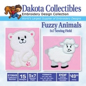 Fuzzy Animals Applique