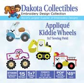 Kiddie Wheels Applique