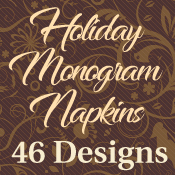 Holiday Monogram Napkins