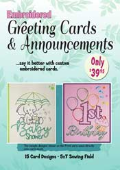 Embroidered Card Anncmt & More