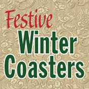Festive Winter Coasters (4x4)