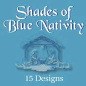 Nativity Scenes In Shades Of Blue (5x7)