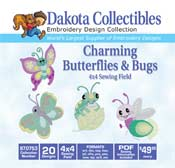 Charming Butterflies And Bugs