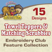 Towel Toppers W/matching Scrubbies